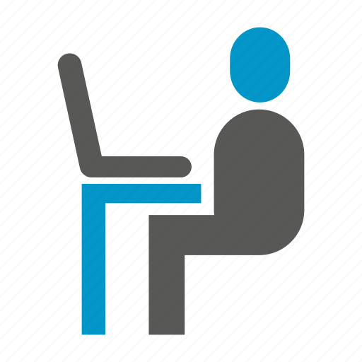 office, people, sitting, worker icon