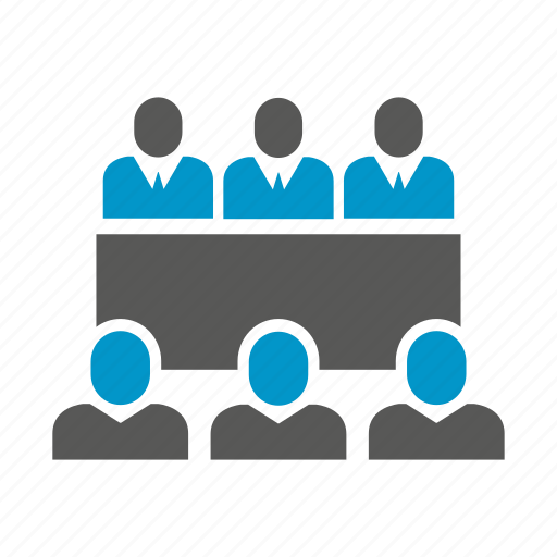 conference, employee, meeting, office, people, table icon