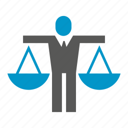 balance, balance scale, justice, law, people, weight icon