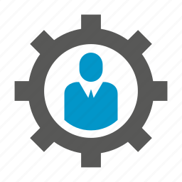 business people, cog, gear icon