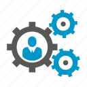 cogs, gears, people, rotate icon