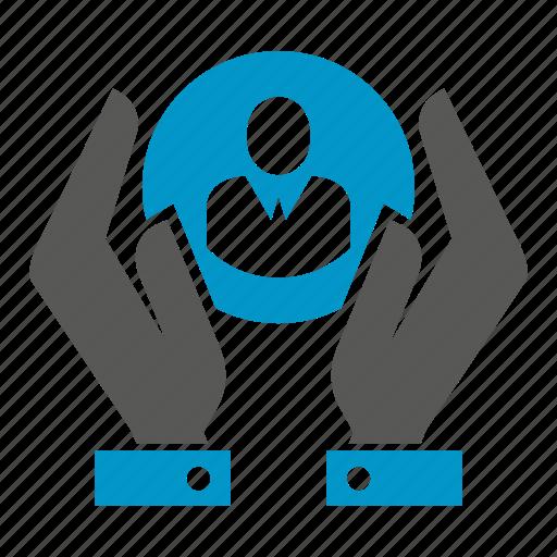 hand, human resource, manpower, people, save icon