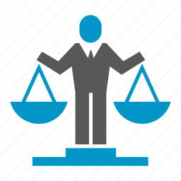 balance scale, justice, law, measuring, weight icon