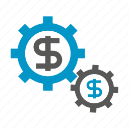 cog, currency, gear, money icon