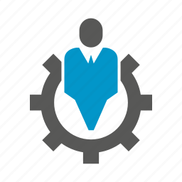business management, cog, gear, people icon