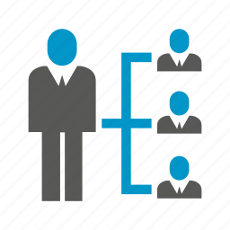 business, cooperate, management, organization chart, people icon