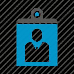 clipboard, document, office, paper, profile icon