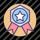 achievement, appreciation, award, badge icon