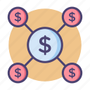 crowdfunding, lending, money, p2p lending icon