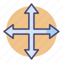 arrows, direction, move icon