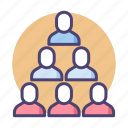 employees, group, hierarchy, organisational chart icon