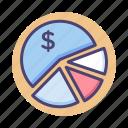 chart, diagram, pie chart icon