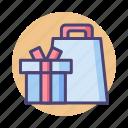 gift, present, shopping, shopping bag icon