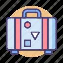 baggage, briefcase, luggage, suitcase