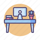 desk, table, work station, workspace icon