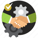 agreement, collaboration, cooperation, deal, handshake, partnership icon