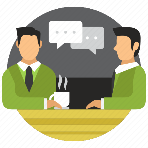business, conversation, meeting, office icon