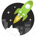 launch, product, rocket, spaceship, startup icon