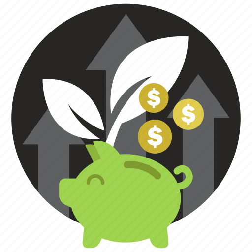 coin, finance, growth, saving, startup icon