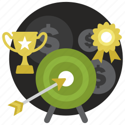 achievement, award, cup, success, target, trophy icon