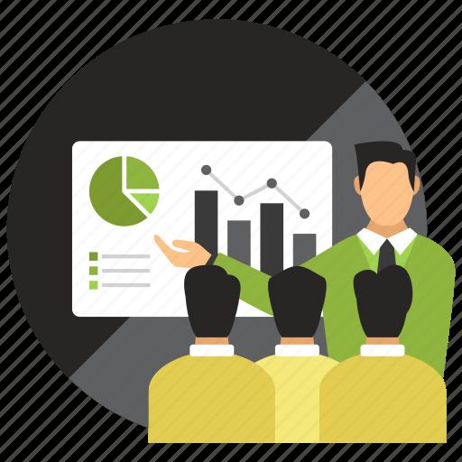 education, meeting, presentation, training icon