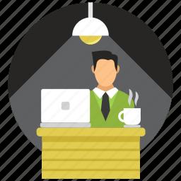 desk, office, work, working icon