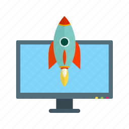 beginning, digital, launch, ready, start, success, technology icon