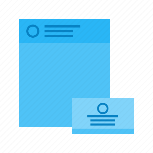communication, contact, details, document, list, text, work icon