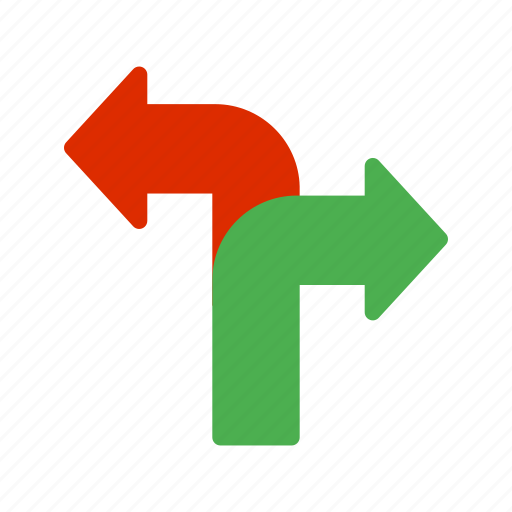 business, career, choice, decision, path, success, way icon