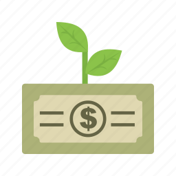 growth, increase, investment, money, profit, revenue, startup icon