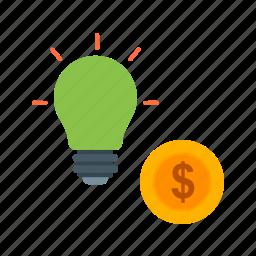 cash, convert, idea, innovation, money, planning, revenue icon