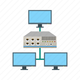 connection, ethernet, hub, internet, network, port, switch icon