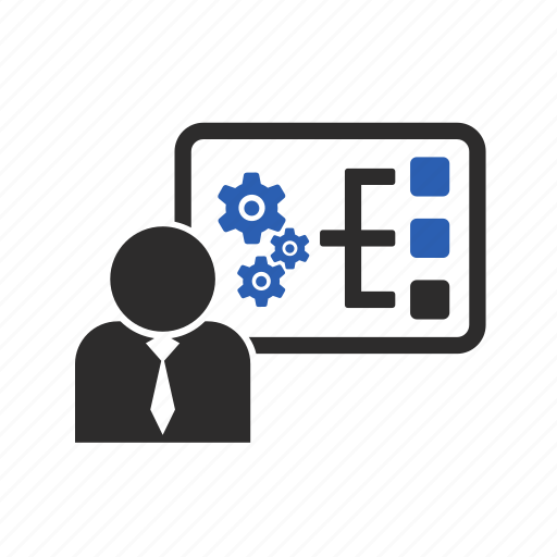 descriptions, gears, management, project icon