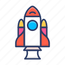 exploration, rocket, spaceship, startup, technology icon