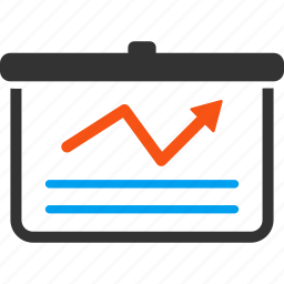 analytics, business report, chart, charts, financial, graph, statistics icon