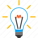 bulb, education, idea, innovation, invent, lamp, thinking icon