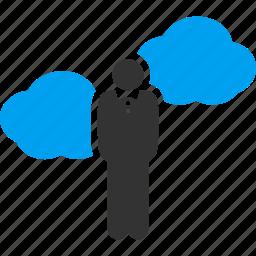 cloud service, clouds, dream, dreams, fantasy, idea generator, startupper icon