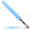 light saber, obi wans icon