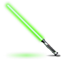 green, light saber, star wars icon