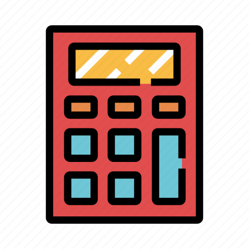 business, calculation, calculator, economy, finance, mathematics, stationery icon