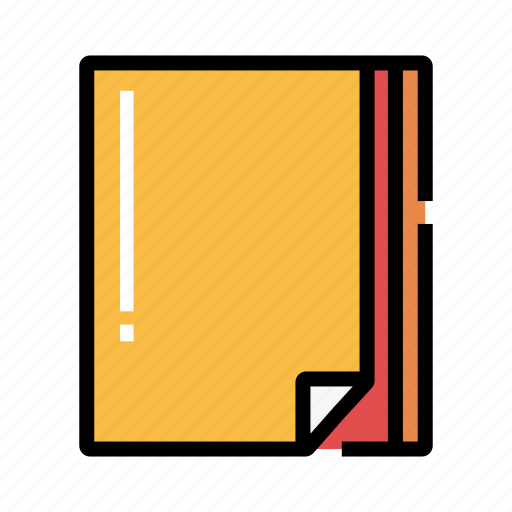 color, colored paper, material, sheet, stack, stationery icon