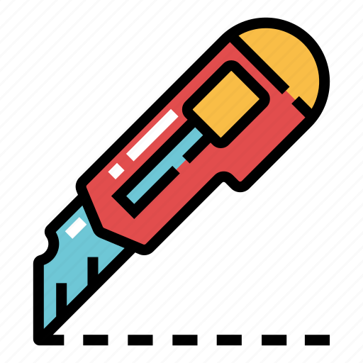 blade, cutter, equipment, knife, office, paper, stationary icon