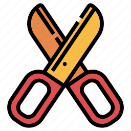 cut, cutout, scissor, scissors, shear, stationary, tool icon