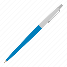 blue, hovytech, office, pen, school, stationery, work icon