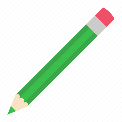 green, hovytech, light, pencil, school, stationery, work icon