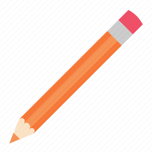 hovytech, office, orange, pencil, school, stationery, work icon