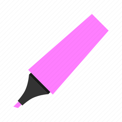 highlighter, hovytech, office, pink, school, stationery, work icon