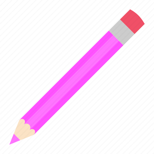 hovytech, office, pencil, pink, school, stationery, work icon