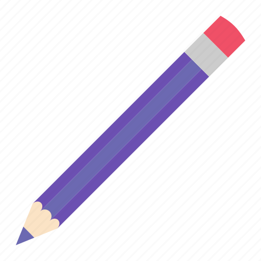 hovytech, office, pencil, purple, school, stationery, work icon