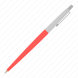 hovytech, office, pen, red, school, stationery, work icon
